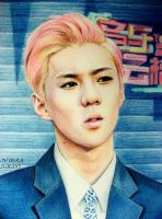 OH SEHUN (Colour Drawing) by diamondnura