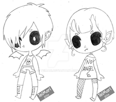 Point Adopts: Demon Twins (closed) by TeiMari