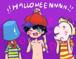 MOTHER/EB:i don't think this is halloween oh well by Nippo