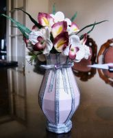 Mothers Day Vase and Flowers by blackrose1959