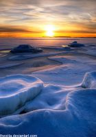Icy Islet Sunset II by theviita