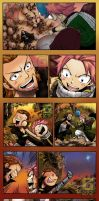 Natsu and Happy meeting Gildarts by G27Z