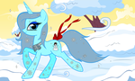 Snowpony in the Snow by Sarxis
