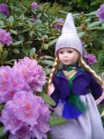 Girl Lupine gnome 2 by JanuaryGuest