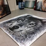 Wolf painting getting a new home by AtomiccircuS