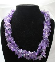 Amethyst Necklace by Mommy-of-Monsters