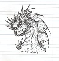 Quick Dragon in Ink by TheGreenDragonGirl