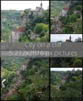 Rocamadour-City on a cliff by Cat-in-the-Stock