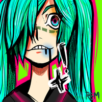 Bruised Miku by paolamartinez12