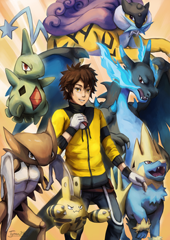 Pokemon Sibling Commission: Team Strike by Tymkiev