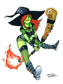 Marker: Witchy Boo by KidNotorious