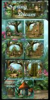 Spring Dream backgrounds by moonchild-ljilja