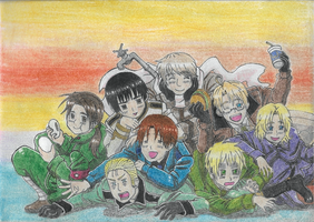 Hetalia Characters - Colored by LukaDragneel