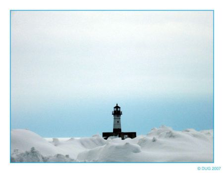Winter Lighthouse by dugonline