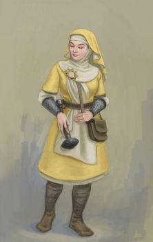 Cleric of Pelor by Bergholtz