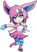 Sylveon Gijinka by icefyrefox
