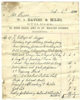 Builder's Invoice 1880 by hogret-stock