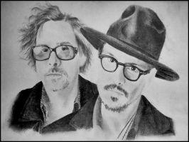 Tim burton and Johnny depp by andrea-gatos