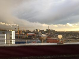 View from Office after a heavy rain storm by DanP77