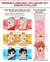 YOI and CCS Keychain Pre-Order by enmoire