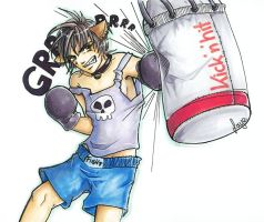Fighting Catboy by sarus