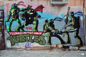 TMNT Graffiti Wall by LiuboGri