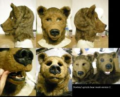 Grizzly bear mask version 2 by xiamara13