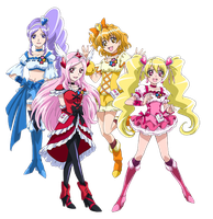 Fresh Pretty Cure - New Stage 2 Poses by frogstreet13