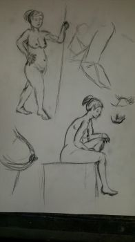 life drawing #6 by Gary3-6-9