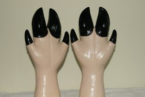 Black latex hoofs by HORSEKING