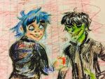 p1 rough sketches gorillaz  by jenisnotcool