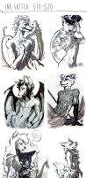 Ink Sketches by Spikie