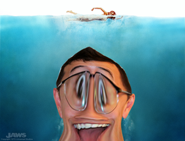 Markiplier as Jaws by StoneHot316