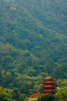 Pagoda by the Mountains by Drocan