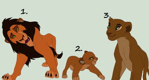 Lion Family Adopt by Cece-Edgars-Sister