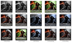 Star Wars Battlefront Kylo Ren Icons JPG+ICO [x46] by Rhyz66