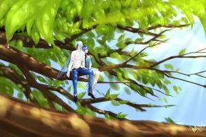 Up In The Trees by JigokuShii