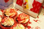 Chocolate Candy Cane Cupcakes by MiggeatheShutterBug