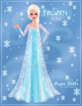 Elsa Paper Doll Preview by Cor104