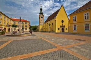 Square of old town center by olgaFI