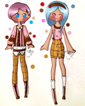 Ice Cream Collab Adopt Set(100 Points Each)(Open) by chickid11adopts