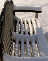 Snowy Bench by OneLittlePixel