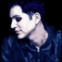 Brian Molko Blue by Placebobitch