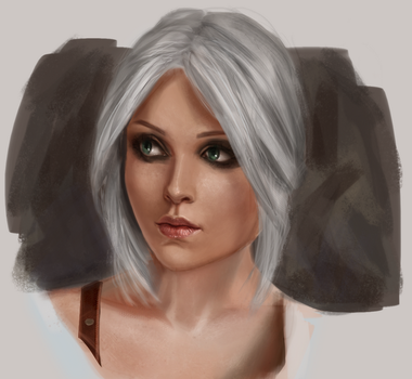 Studying. Ciri by LilyDemian