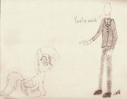 Derpy and Slender by CobaltBrony