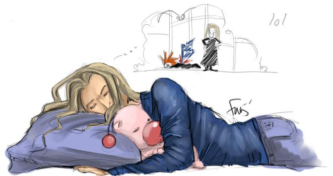 Vexen and his moggie by oneoftwo