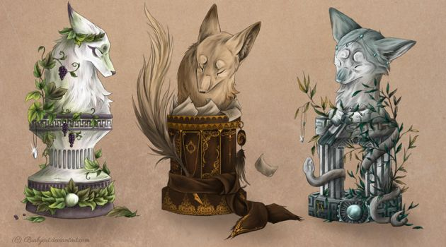 foxfan chess pieces by busbyart