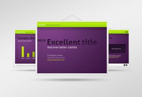 Pressed Letters PPTX Template by erigongraphics
