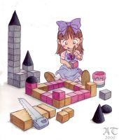 Little Alice Making Toy Blocks by ChildProdigy7