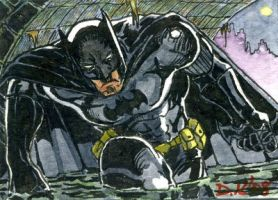 Batman Sketch Card by DKuang
